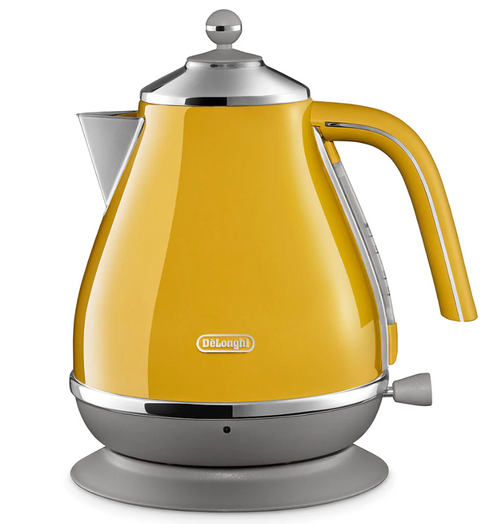 Delonghi CTOC4003Y KBOC2001Y Icona Capitals Toaster + Kettle PACK - New York Yellow - RRP $308.00