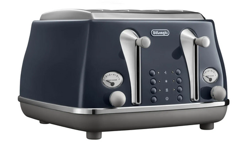 Delonghi CTOC4003BL Icona Capitals 4 Slice Toaster - London Blue
