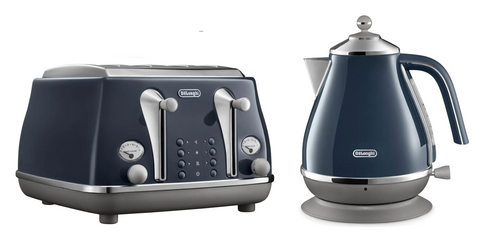 Delonghi CTOC4003BL KBOC2001BL Icona Capitals Toaster + Kettle PACK - London Blue