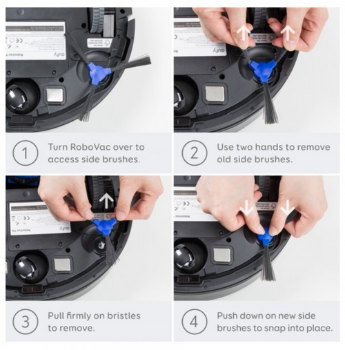 Eufy T2905031 Replacement Side Brush x4 For RoboVac 11S