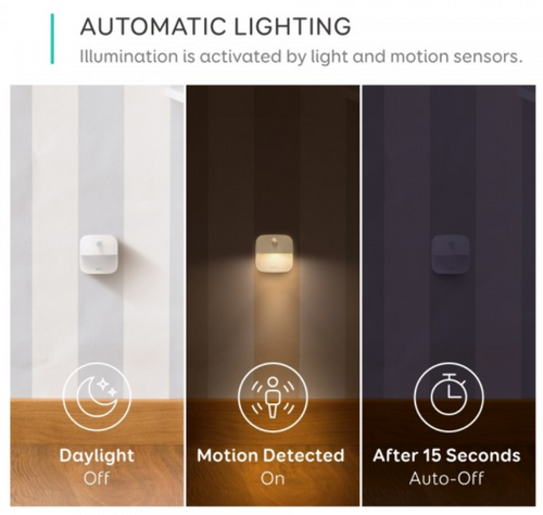 Eufy T1301H21 3x Lumi Stick-On Energy Efficient Night Lights With Motion Sensors