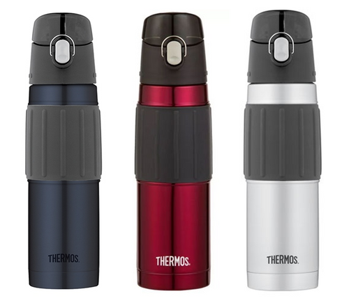 Thermos 2465SKRAUS/2465AUS/2465MBAUS 530mL Vacuum Insulated Drink Bottle - Red/Silver/Black