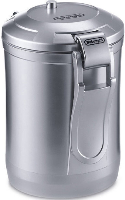 DeLonghi DECC500 Vacuum Sealed Coffee Storage Canister - Silver