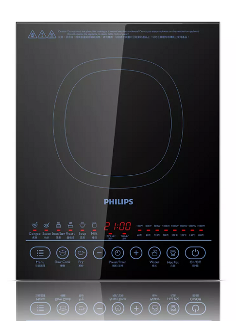 Philips HD4937/06 Electric Single Induction 2100W Cooktop with Digital Display