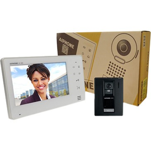 Aiphone JOS-1A Entry Security Intercom Box Set with Surface-Mount Door
