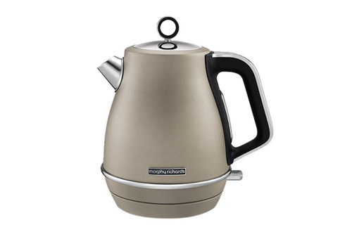 Morphy Richards 104403 Evoke 1.5L Platinum Electric Jug Kettle - Metallic Sand