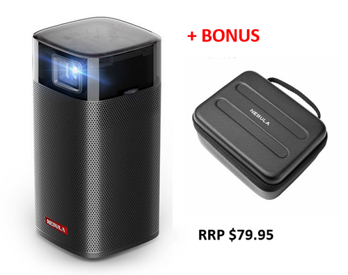Anker D2410J11 Nebula Apollo Pocket Projector + BONUS CARRY CASE - HURRY LAST 4!