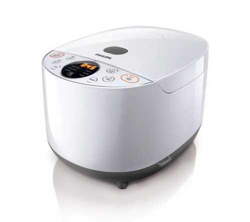Philips HD4514/72 Daily Collection Grain Master 4L 10 Cup Rice Cooker - White