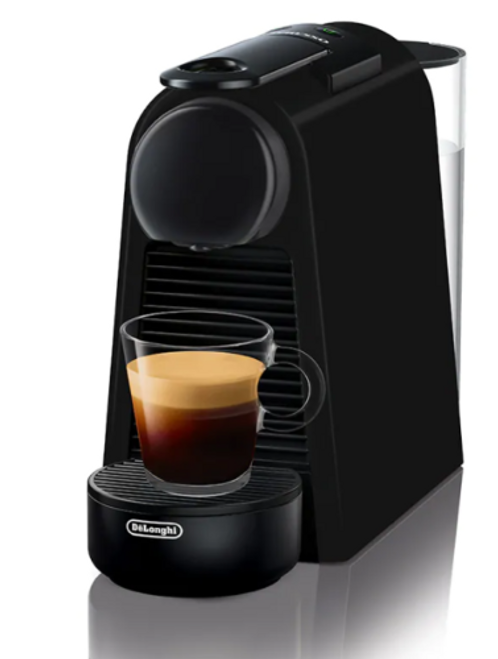Delonghi EN85BMAE Nespresso Essenza Mini Capsule Machine with Aeroccino - Black
