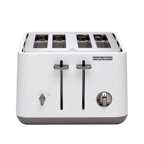 Morphy Richards 240024 Aspect Black Chrome 1880W 4 Slice Toaster – White