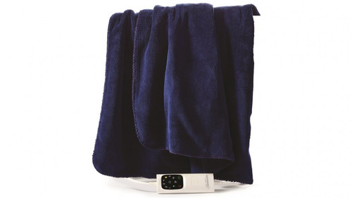 Sunbeam TRP4400 Sunbeam Feel Perfect Micro Heated Throw Blanket - Royal Blue