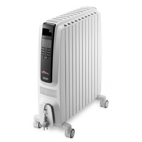 Delonghi TRD42400ET 2400W Dragon 4 Electric Oil Column Heater w/ Timer