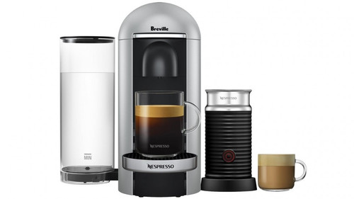 Breville BNV450SIL Nespresso Vertuo Plus Deluxe Bundle Coffee Machine - Sliver