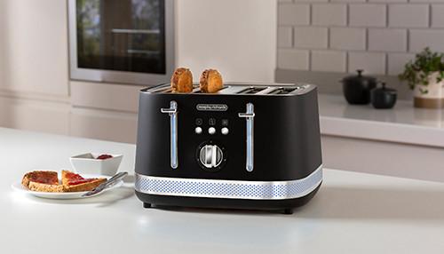 Morphy Richards 248020 Illumination 4 Slice Toaster Stainless Steel - Black