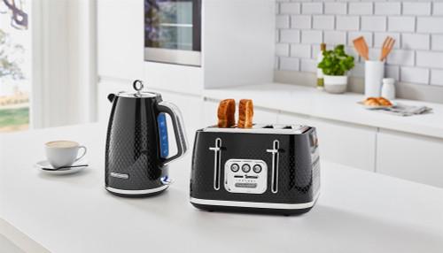 Morphy Richards 103010 243010 Verve Kettle & Toaster PACK - Black