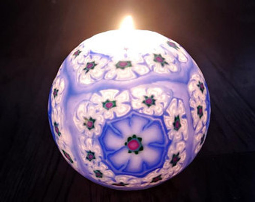 Cape Jasmine Glow in Dark Floral Scented Handmade Candle Ball