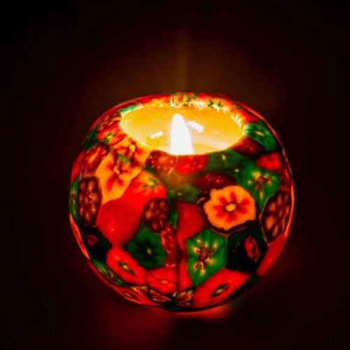 Art Craft Glow in Dark Floral Scented With Natural Fragrance Handmade Candle Ball