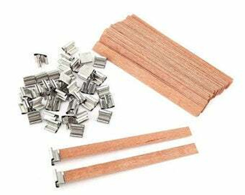Crackling Wood Candle Wick pre-soaked with fully refined paraffin wax for handmade candle DIY 10pcs