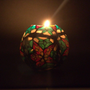 Green Glow in Dark Floral Scented Handmade Candle Ball