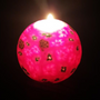 Purple Glow in Dark Floral Scented Handmade Candle Ball