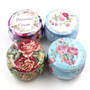Floral Scented Handmade Tin Candle (pack of 3)