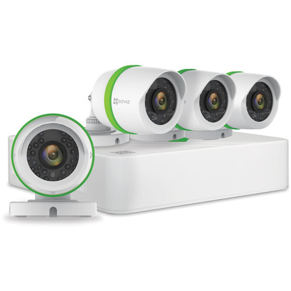 EZVIZ DIY 4 Channel 1080p Security 4 Camera Kit