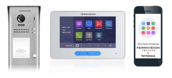 2-Wire Video Intercom w. Prox IP App Kit