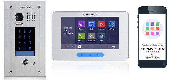 2-Wire Video Intercom w. Keypad Flush IP App Kit