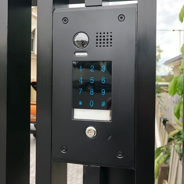 Matt Black Intercom with or without Integrated Letterbox