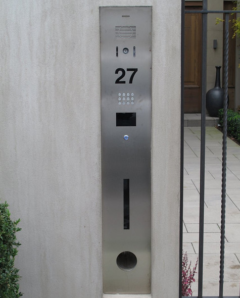 316 Stainless Steel Intercom with or without Integrated Letterbox