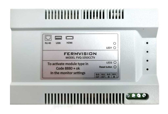 Qseries 2-Wire IP CCTV Interface Module