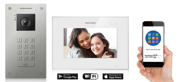 Qseries 2-Wire Video Intercom w. Flush Keypad IP App Kit