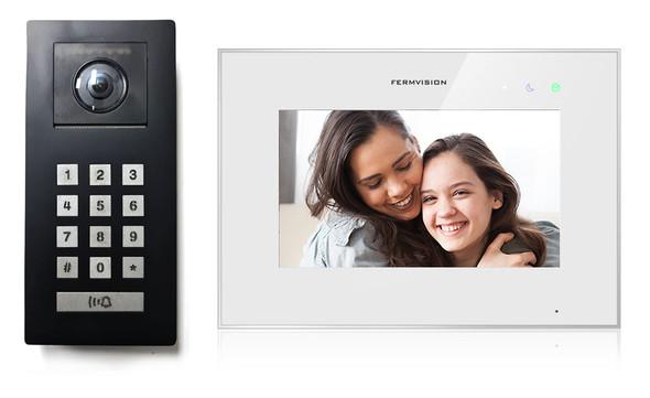 Qseries 2-Wire Video Intercom w. Black Keypad Kit