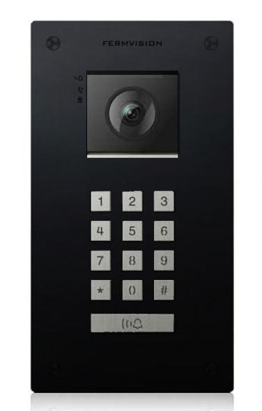 Qseries 2-Wire Black Flush Keypad Door Station