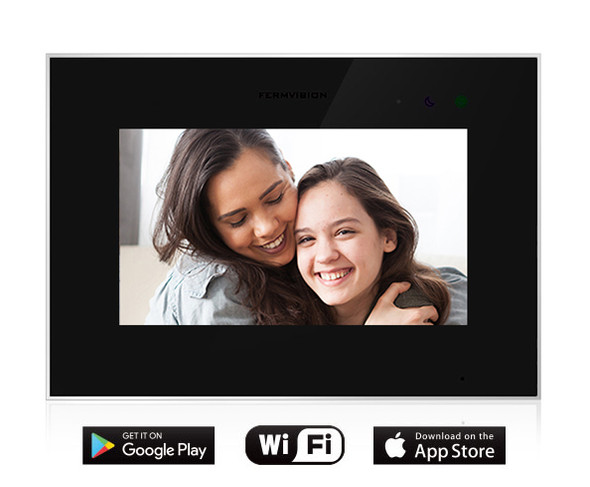 Qseries 2-Wire Extra Wifi Black Monitor With Memory For App Connectivity