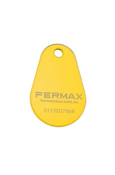 Yellow Teardrop Proximity Key Fob