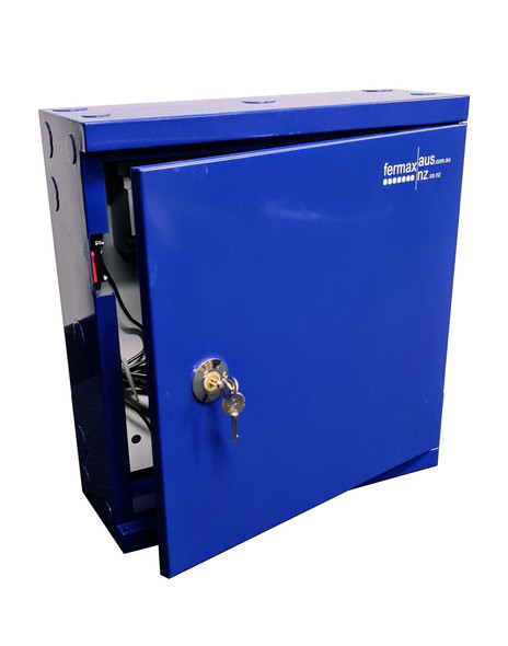 Powder Coated Blue Metal Box/Enclosure - Medium Size