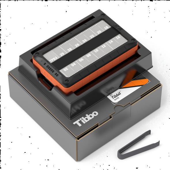 """Size 3 Tibbo Project Box - Same as """"TPB3"""" + two DMK1000 DIN rail kits + TPB3-VPK vibration protection kit (fully assembled)"""