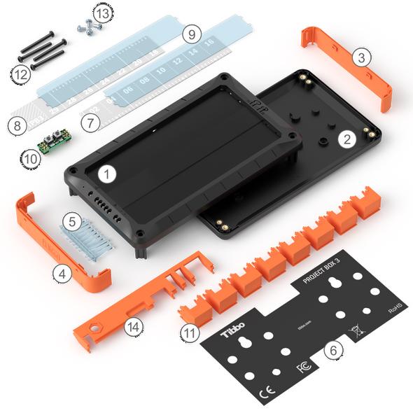 Size 3 Linux Tibbo Project Box - Unassembled parts kit for the LTPB3 enclosure