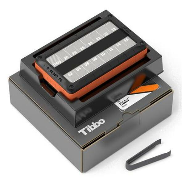 Size 3 Linux Tibbo System Box, Gen. 2 - Fully assembled LTPB3 + LTPS3(G2), in retail packaging (TPB3-PACK). Includes remover tongs