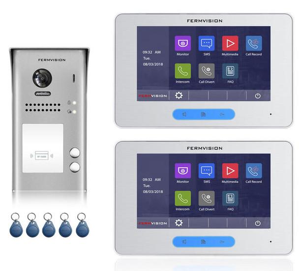 2-Wire 2pb (Duplex) Video Intercom w. Prox Kit