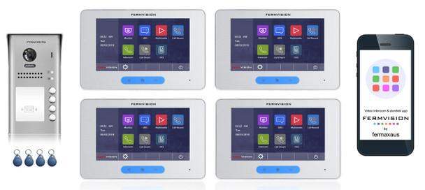 2-Wire 4pb Video Intercom w. Prox IP App Kit