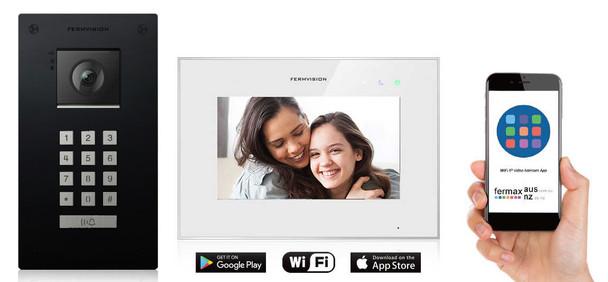 Qseries 2-Wire Video Intercom w. Black Flush Keypad IP App Kit