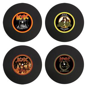AC/DC - Set of 4 Silicon LP Coasters