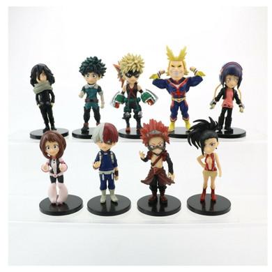 My Hero Academia - Set Of 9 Assorted Characters 7cm Figure