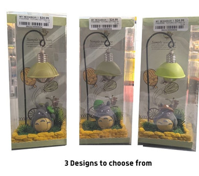 My Neighbor Totoro - Totoro Sitting on Grass with Green Lampshade with Light 18cm Figure
