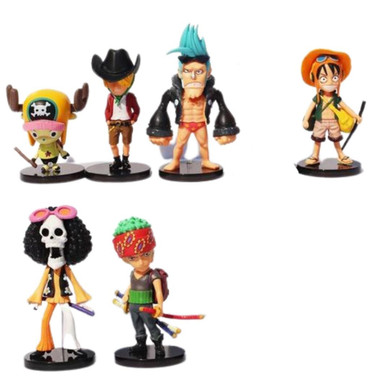 One Piece - Set Of 6 Assorted Characters 8cm Figure