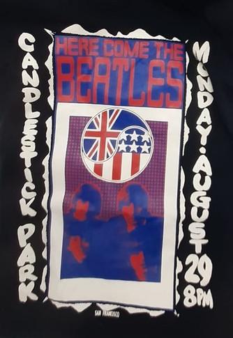 Beatles - Candlestick Park Large VintageT-Shirt
