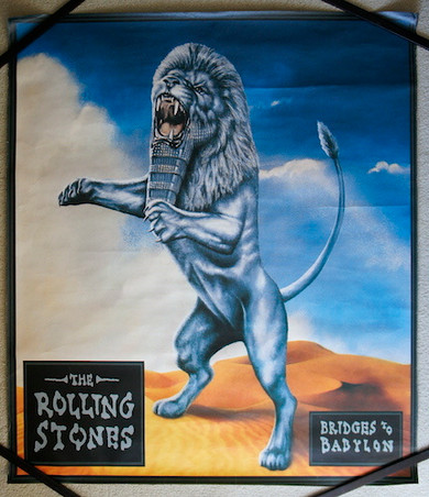 Rolling Stones - 1997 Bridges To Babylon Promo Collectable Poster