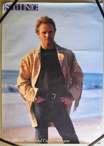 Sting - 1991 The Soul Cages Promo Collectable Poster
